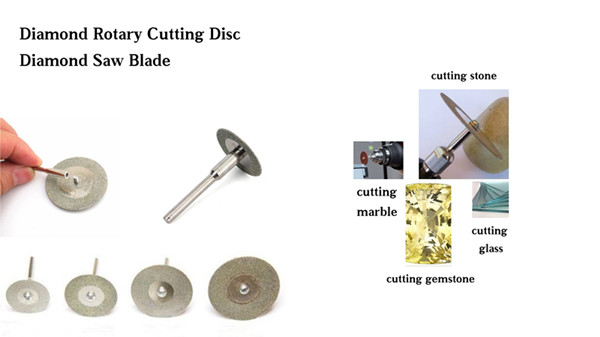 diamond rotary cutting disc for gemstone