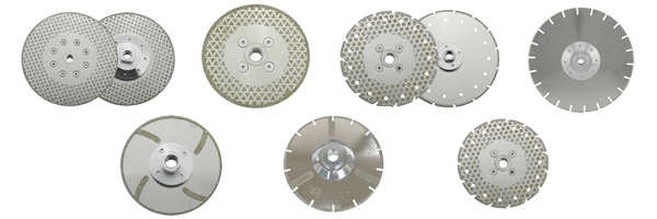 diamond cutting disc with flange