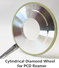 cylindrical diamond wheel for pcd reamer