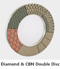 Double diamond & cbn grinding disc