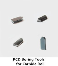 pcd boring tool for carbide roll