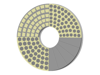 DOUBLE DISC GRINDING WHEEL